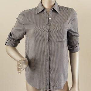 Alice + Olivia Employed Stripe Button Down Shirt